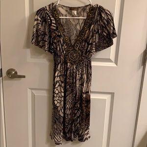 Stretch v-neck dress